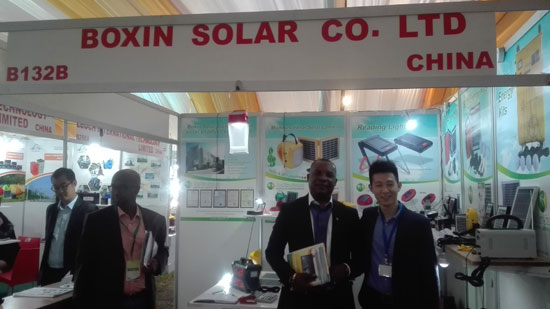 Exhibition Booths Kenya : Boxin s booth in the exhibition of solar africa kenya